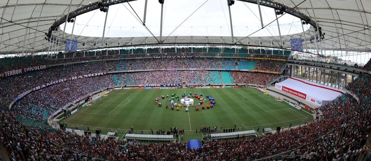 Fonte Nova: Seis jogos na Copa do Mundo Foto: Foto: Vanderlei Almeida/AFP