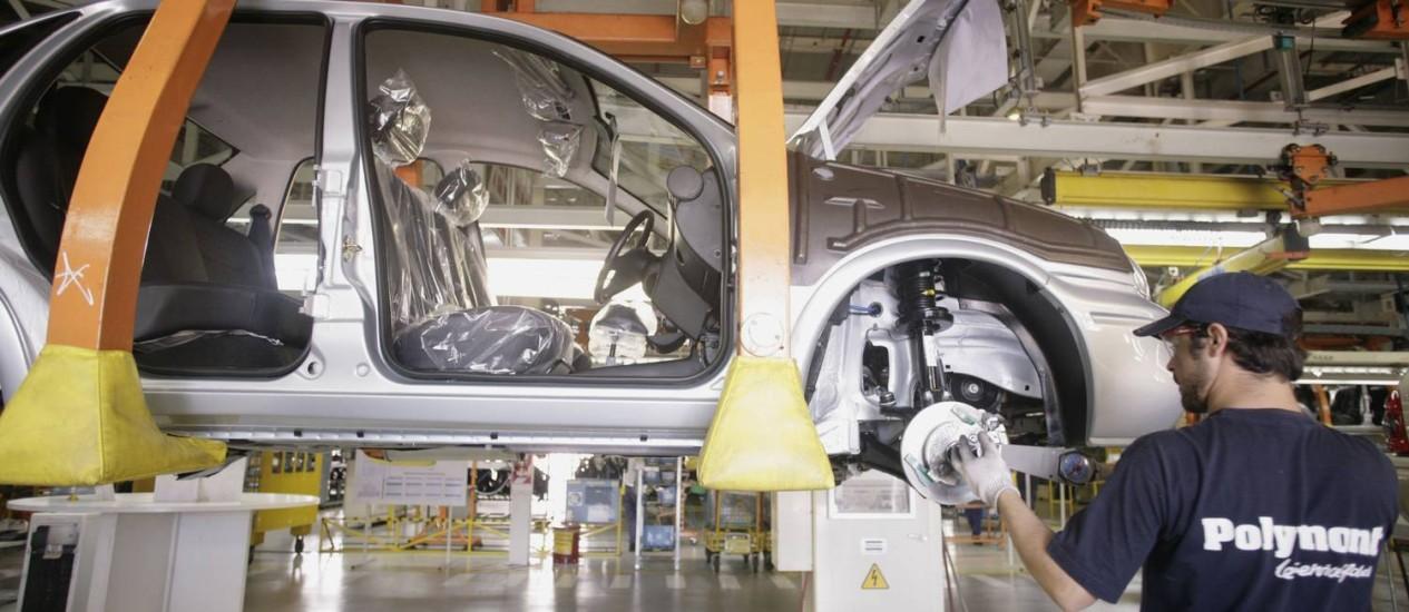 Fábrica da GM em Rosario, na Argentina. Freio na economia e restrições cambiais afetam a indústria Foto: DIEGO GIUDICE / BLOOMBERG NEWS/Arquivo