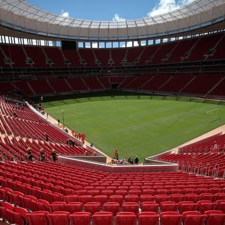 O Mané Garrincha receberá quatro jogos no Mundial Foto: Eraldo Peres / Eraldo Peres/AP