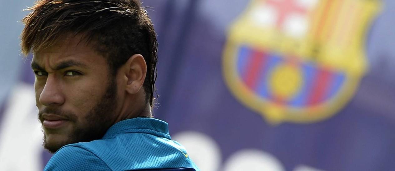 Neymar quer jogar no sábado, contra o Atlético de Madrid Foto: Lluis Gene / AFP