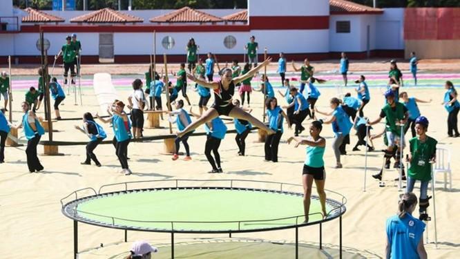 Bailarinos ensaiam para a abertura da Copa do Mundo Foto: Divulgação