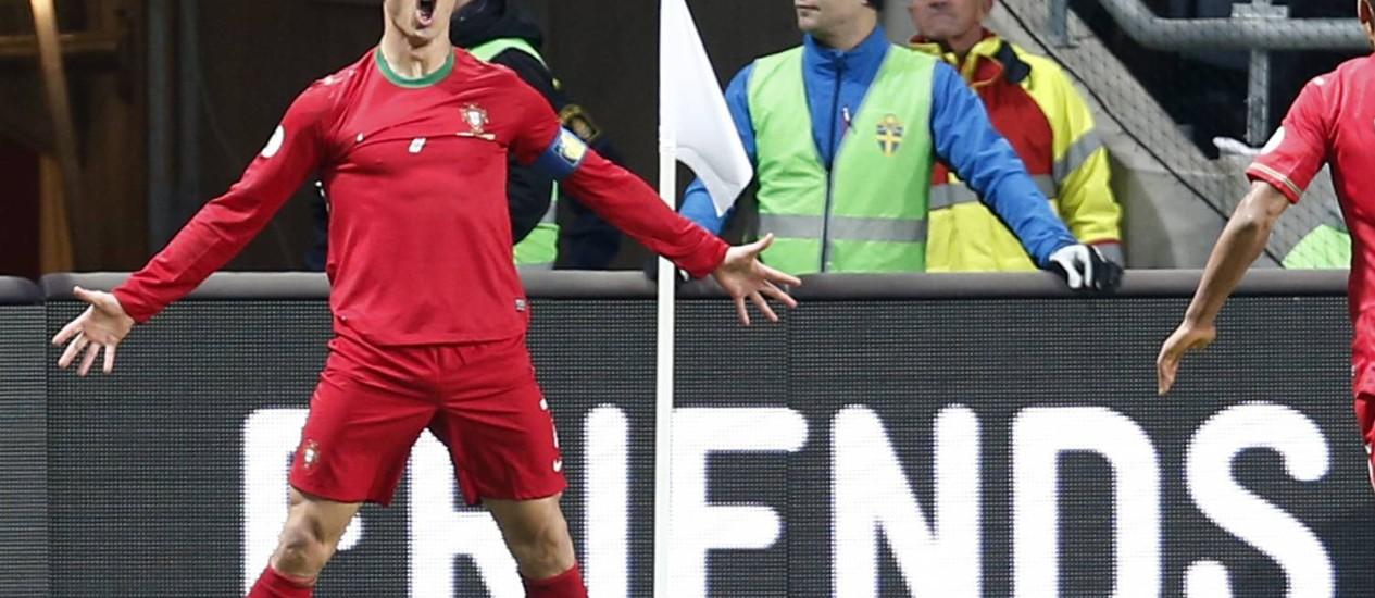 Cristiano Ronaldo é a grande estrela de Portugal Foto: Frank Augstein / AP