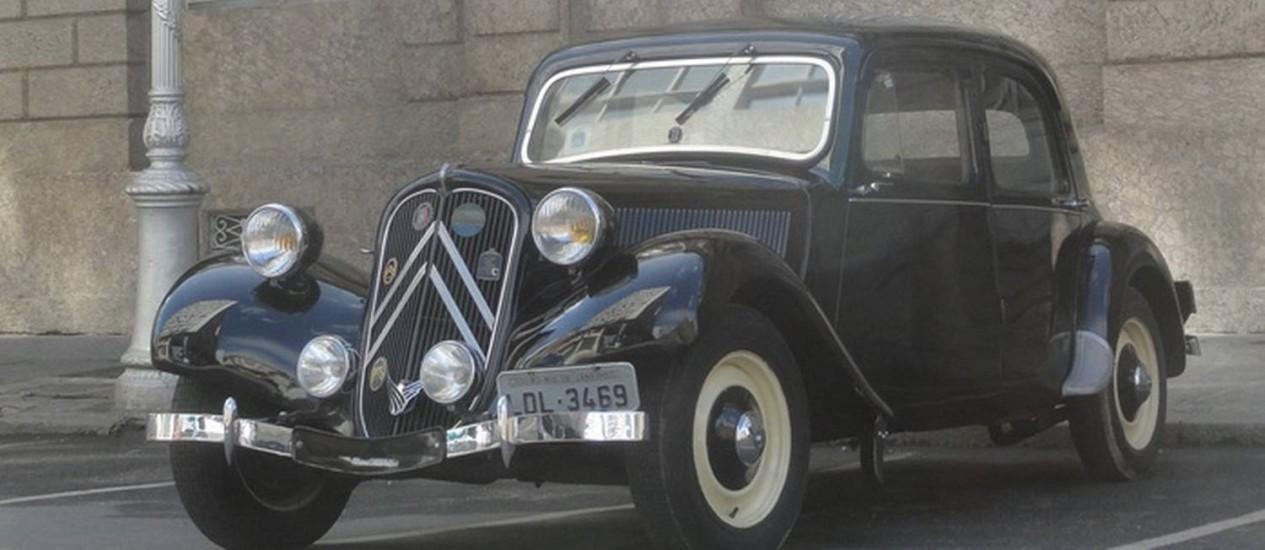 Em 1934, o Citroën era uma visão do futuro, com sua carroceria baixa e sem estribos. Resistiu até 1957, sem grandes alterações no estilo Foto: Jason Vogel