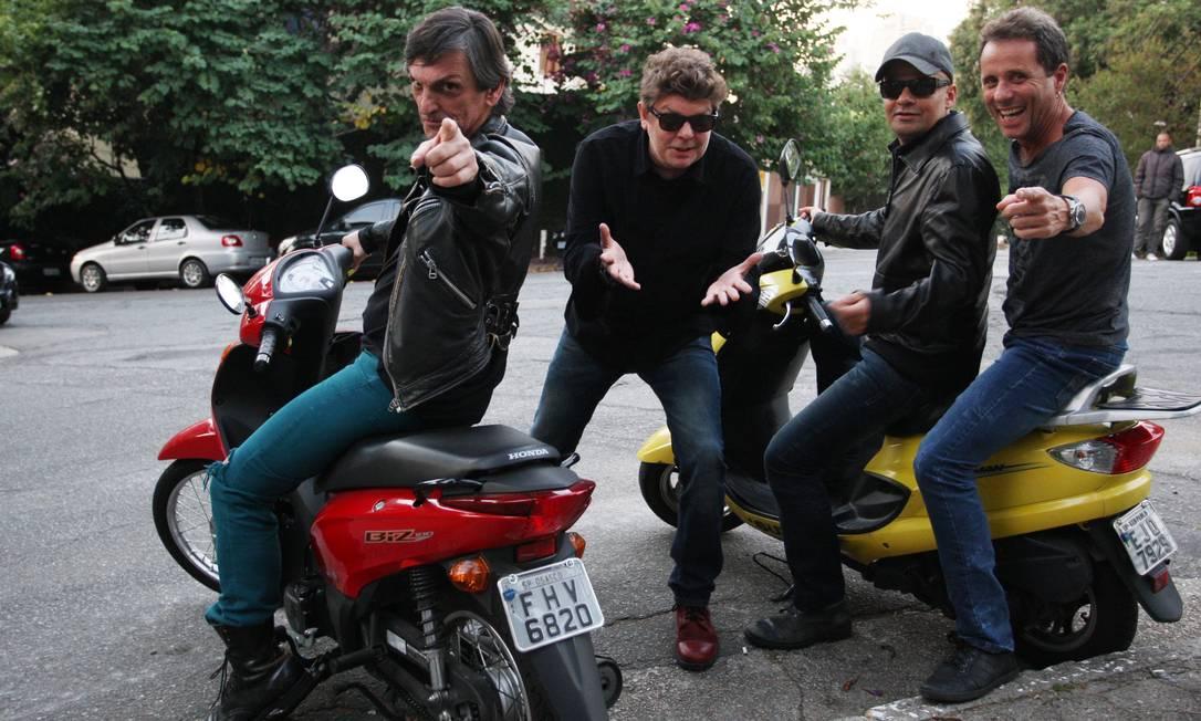 Paulo Miklos, Branco Mello, Sérgio Britto e Tony Bellotto: em agosto, eles estreiam no Circo Voador o show de lançamento do disco Foto: Michel Filho /