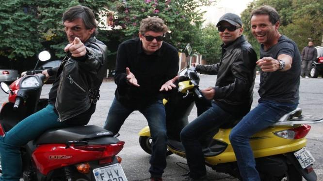 Paulo Miklos, Branco Mello, Sérgio Britto e Tony Bellotto: em agosto, eles estreiam no Circo Voador o show de lançamento do disco Foto: Michel Filho