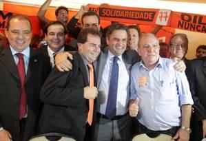 Solidariedade formaliza apoio a Aécio e oferece vice para chapa Foto: Ailton de Freitas / O Globo