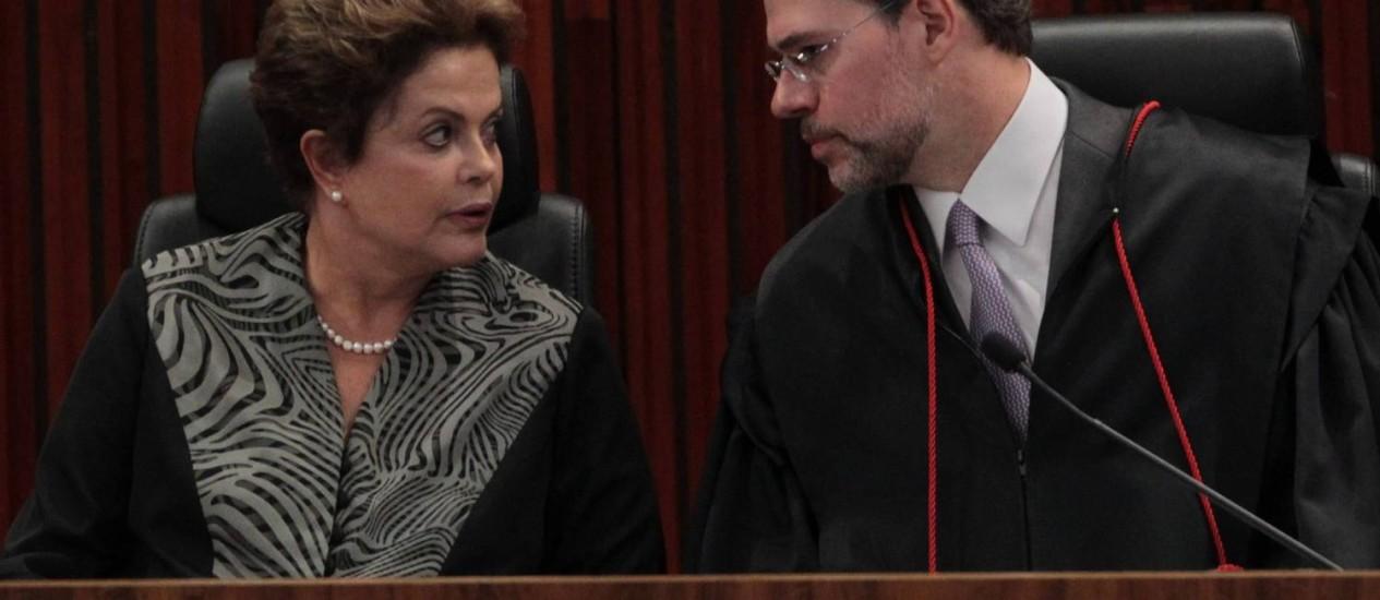 Toffoli toma posse na presidência do TSE e critica grande número de partidos Foto: Givaldo Barbosa / O Globo