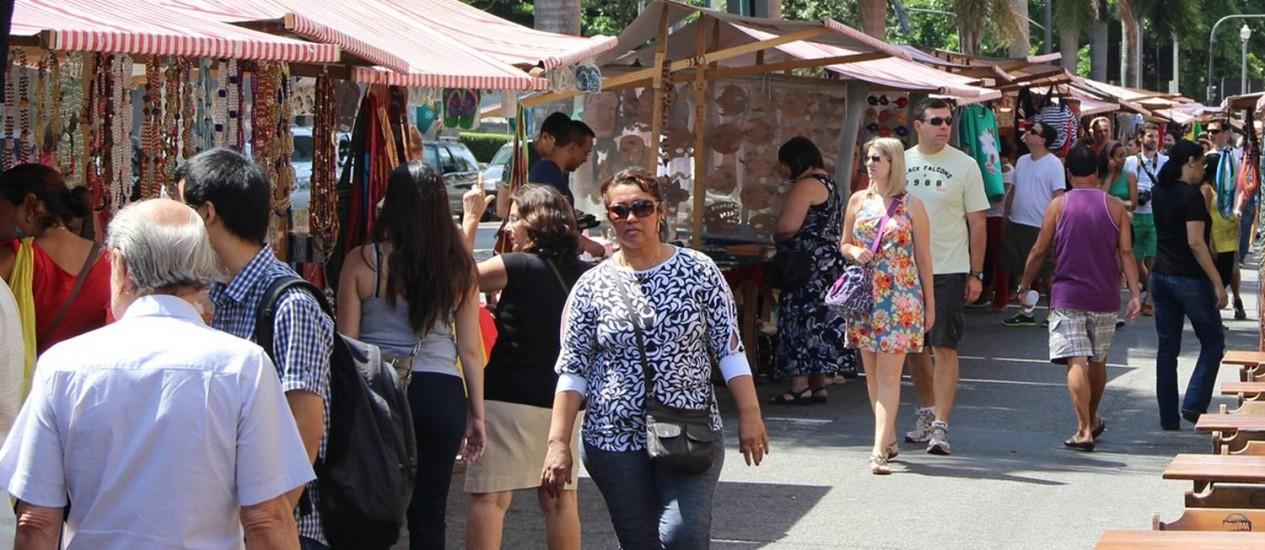 Feiras, como a Rio Antigo, na Lapa, são um canal de venda importante para empreendedores que querem expandir seu mercado Foto: Divulgação