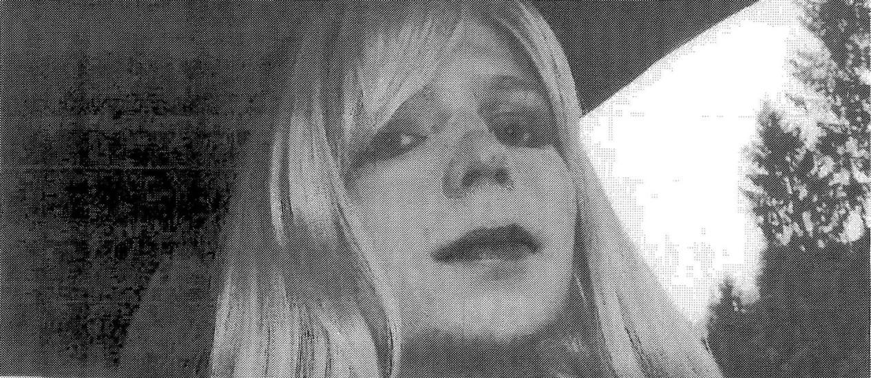 Chelsea Manning foi condenada por vazar documentos das Forças Armadas e da diplomacia americana ao WikiLeaks Foto: HANDOUT / Reuters