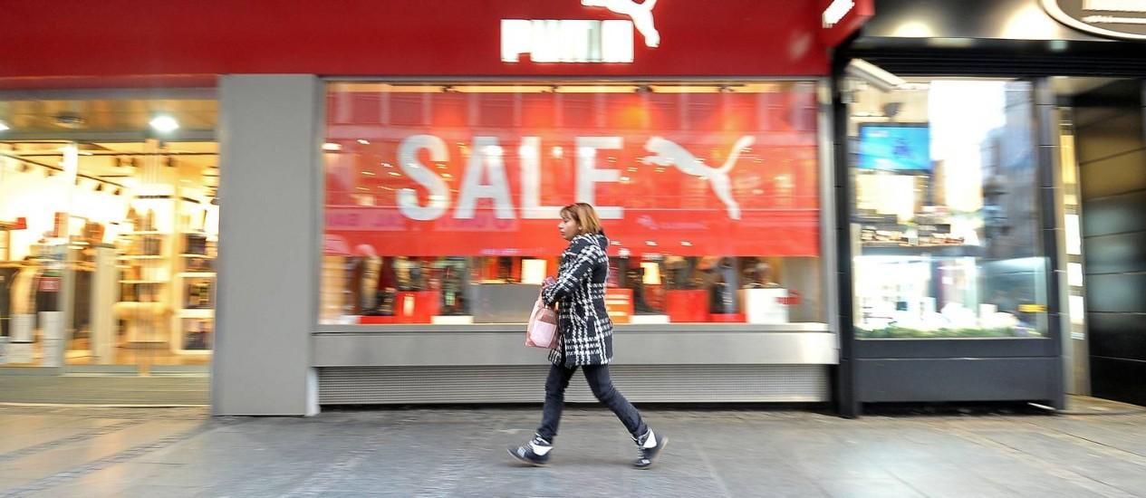 Marca alemã que atrapalhar o domínio de mercado de Nike e Adidas Foto: Oliver Bunic / Bloomberg