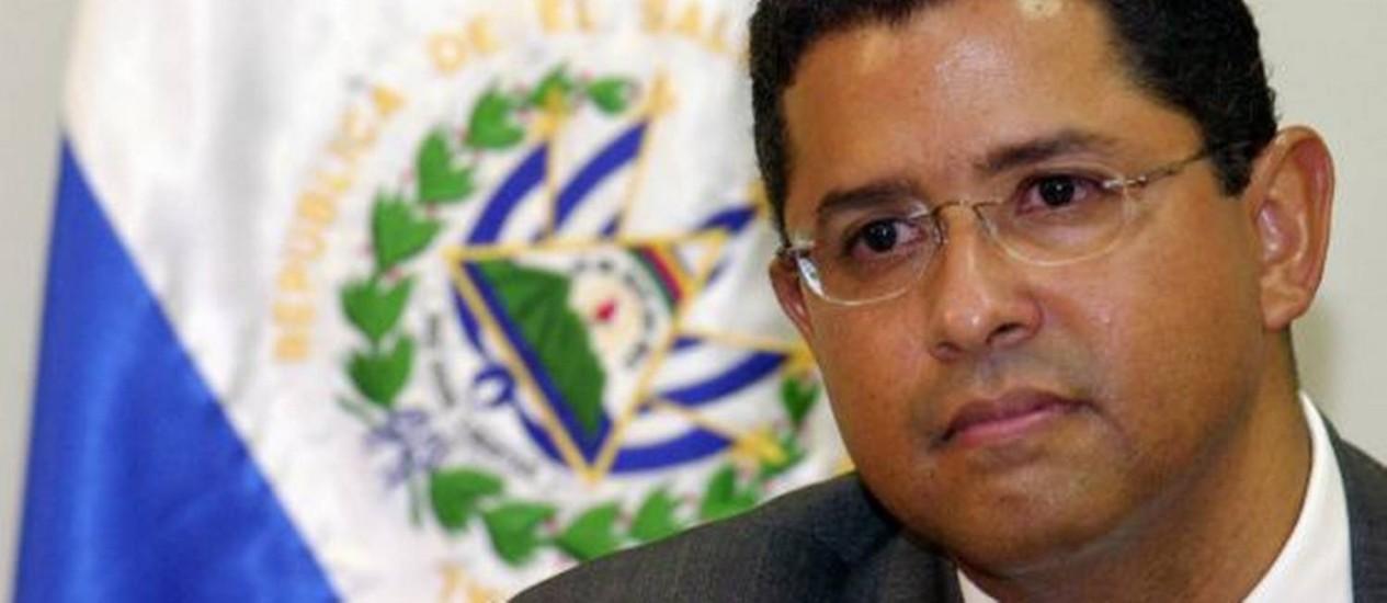 O ex-presidente salvadorenho Francisco Flores Pérez, em 2005 Foto: Reprodução