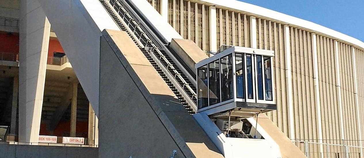 Construído para a Copa de 2010, o estádio de Durban é amplamente utilizado Foto: Carla Lencastre / O Globo