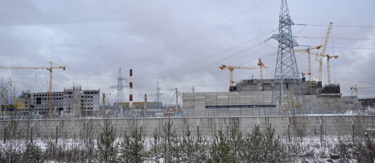 Construção da usina de Beloyarsk, na Rússia: Rosatom vê oportunidades em usinas e equipamentos no Brasil Foto: Pavel Lisitsyn / Pavel Lisitsyn/AFP
