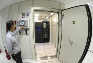 Copa. A sala-cofre que aguardará os equipamentos usados na segurança Foto: Divulgação / Divulgação