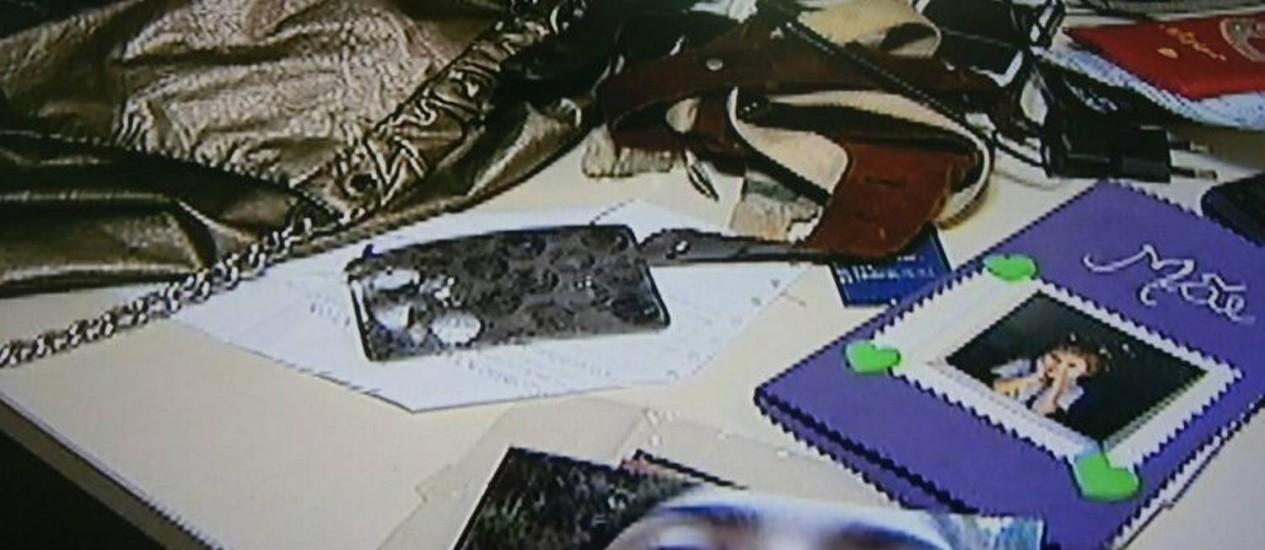 Objetos e foto de Stefanini, morta há três anos / Foto: Reprodução