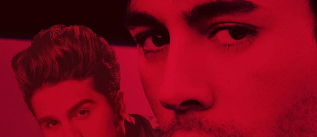 Enrique Iglesias e Luan Santana na capa do single 'Bailando' Foto: Divulgação