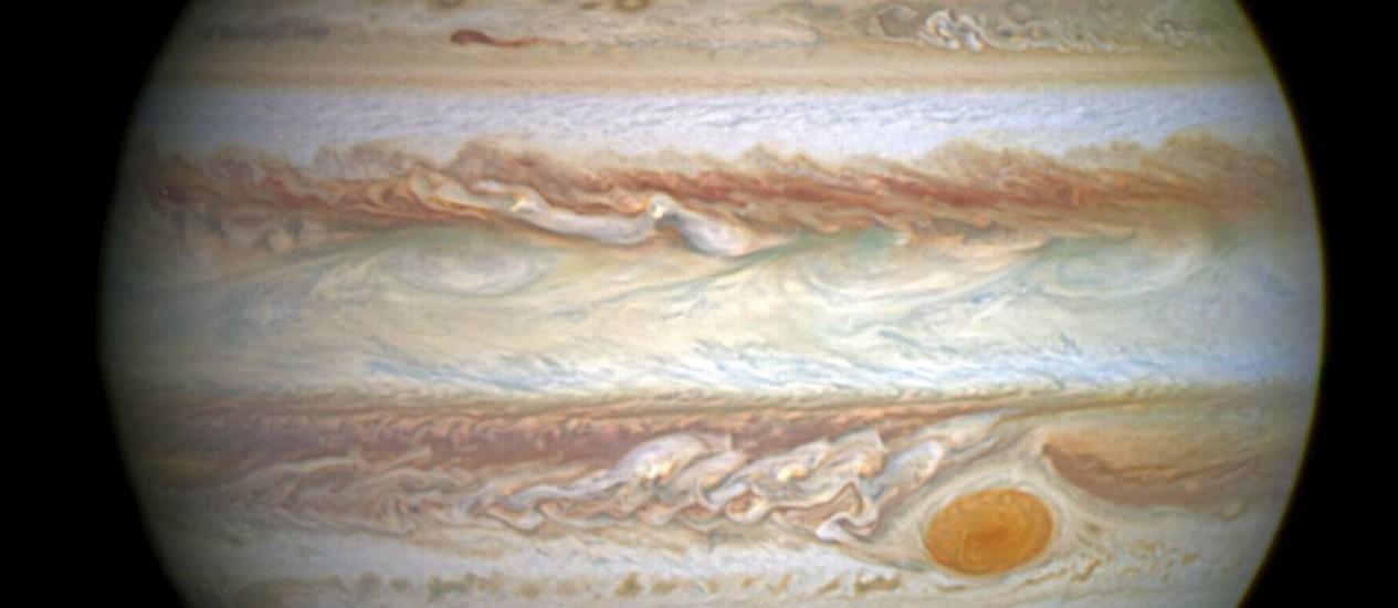 Imagem feita pelo telescópio Hubble no último dia 21 de Abril Foto: A. Simon/NASA-ESA