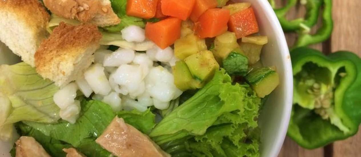 Salada no pote da Eba! Saladas Foto: Divulgação
