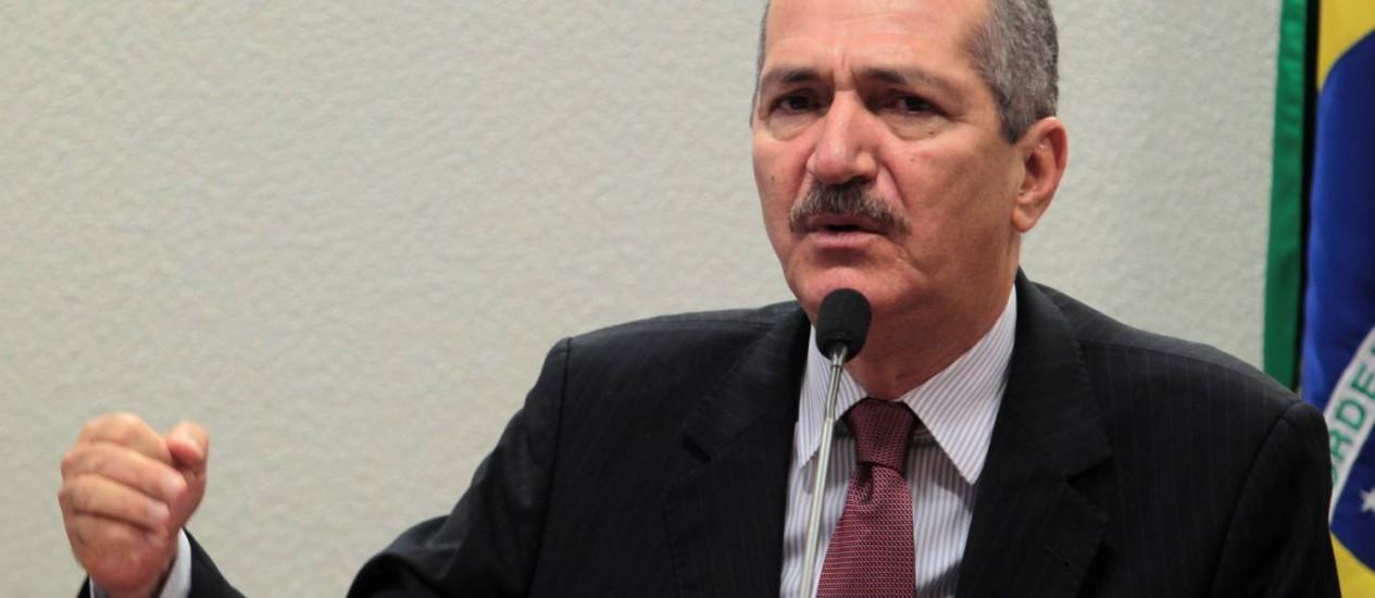O ministro do Esporte, Aldo Rebelo, participou de audiência pública e falou sobre as prioridades do ministério Foto: Givaldo Barbosa / Agência O Globo