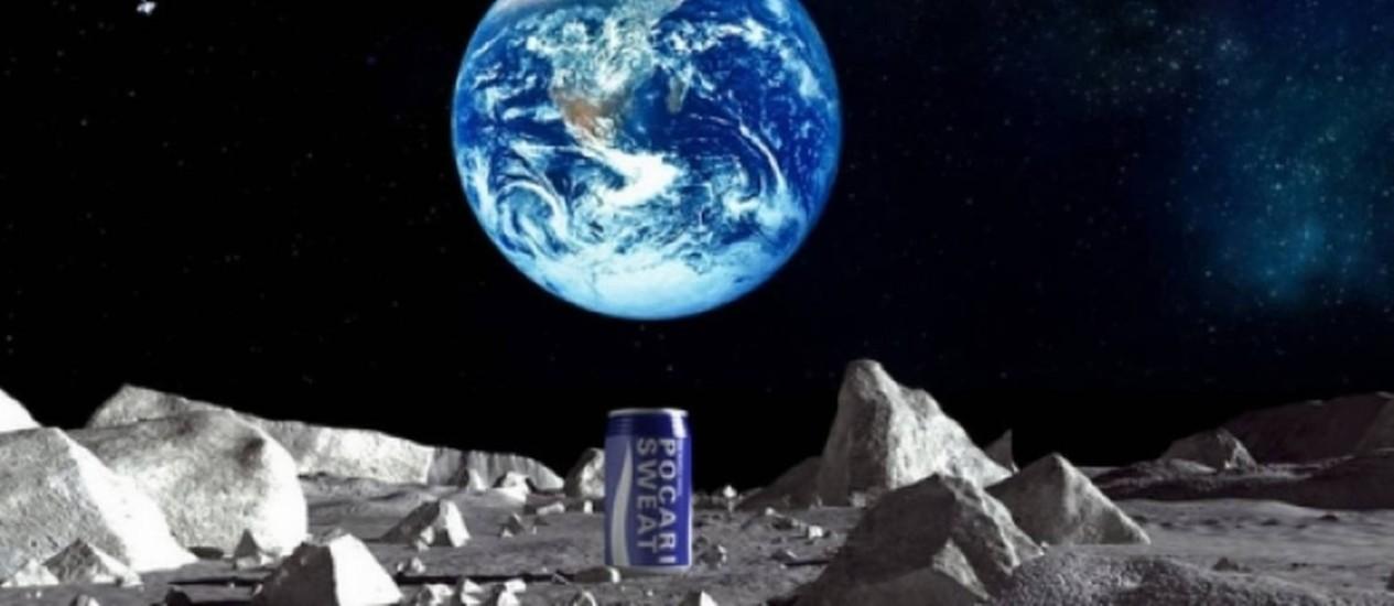 Bebida chegará à Lua em outubro Foto: Pocari suor/Divulgação