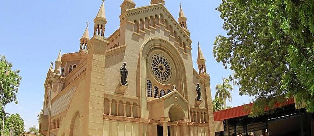Minoria. A igreja de São Mateus, em Cartum: cristãos são perseguidos no país Foto: ASHRAF SHAZLY / AFP