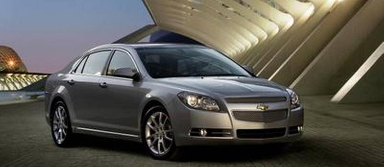 Insegurança. O Chevrolet Malibu 2010 está entre os envolvidos no recall: defeito na lanterna Foto: Divulgação
