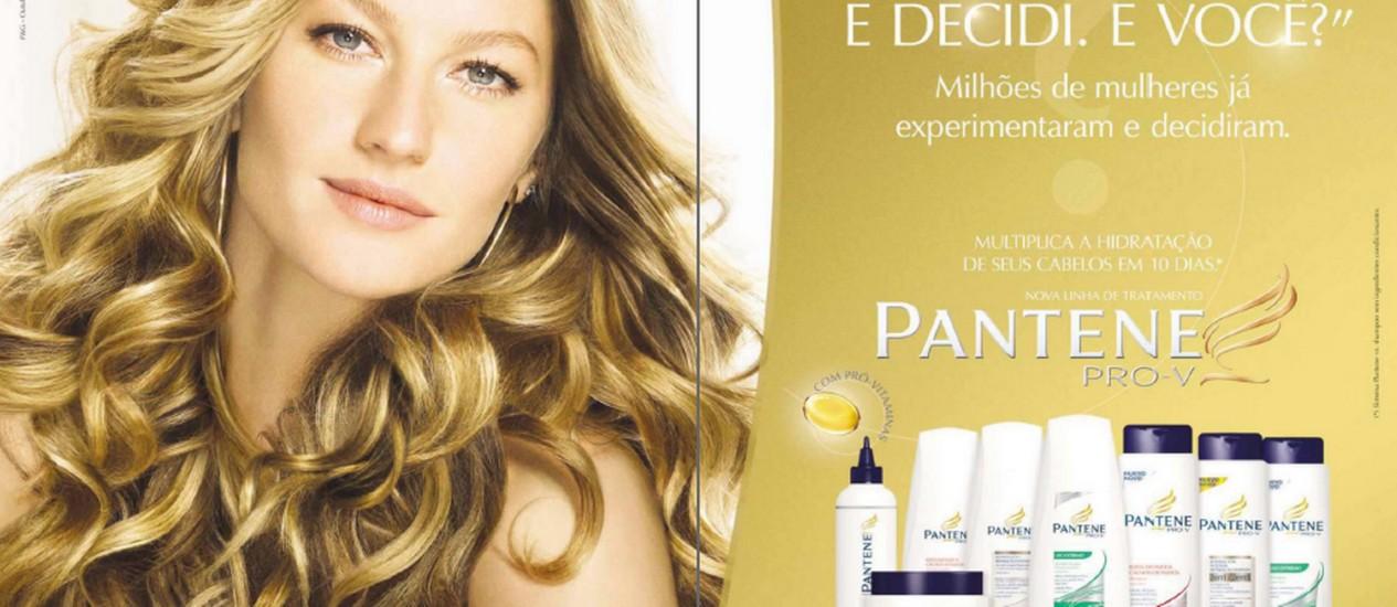 Campanha de shampoo com a top model Gisele Bundchen Foto: Reprodução
