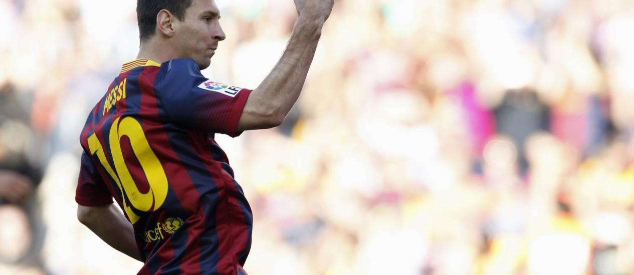 Lionel Messi renovou contrato com o Barcelona Foto: Alberto Gea / Reuters