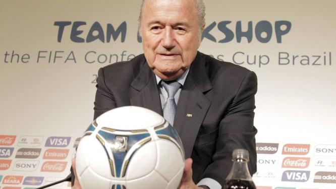 Joseph Blatter, presidente da Fifa, assumiu erro na escolha do Catar como sede da Copa do Mundo de 2022 Foto: Eliaria Andrade - Agência O Globo
