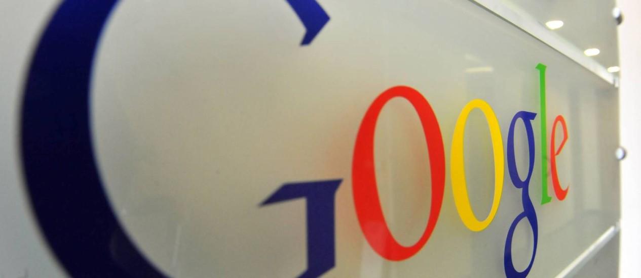 Entrada do escritório da Google em Bruxelas, Bélgica Foto: GEORGES GOBET / AFP