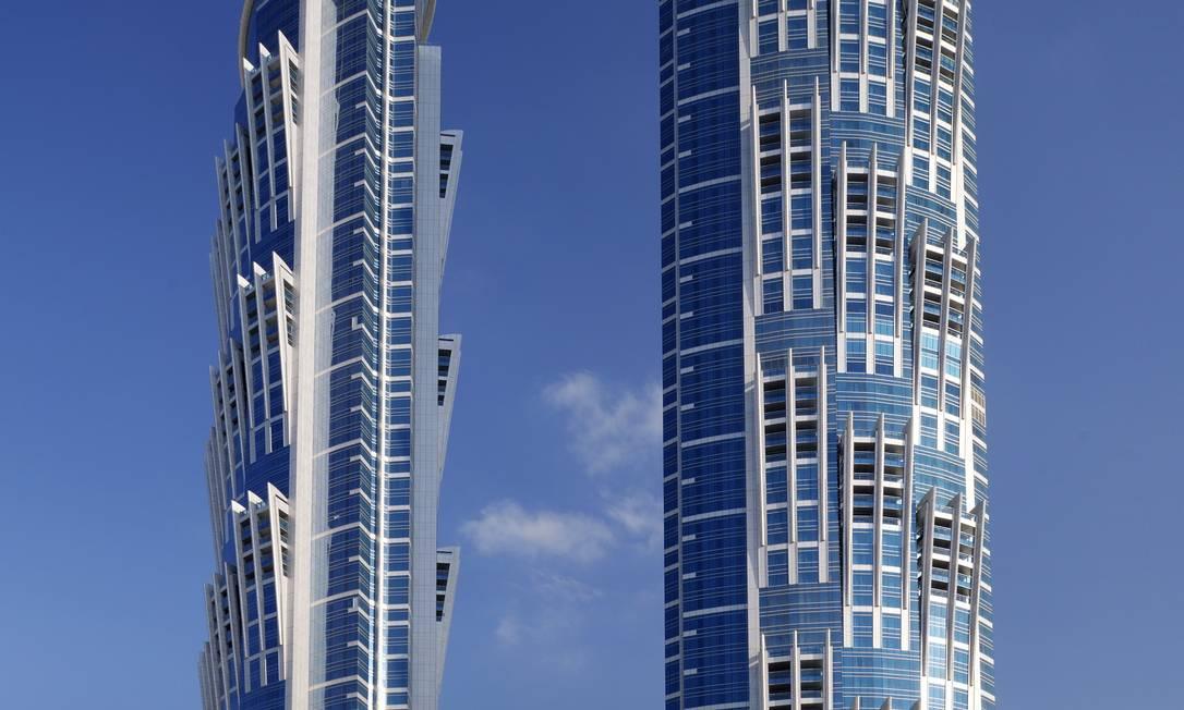 Gêmeas. O hotel JW Marriott Marquis Dubai inaugurou a segunda torre Foto: Divulgação