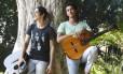 Gabriel Leone e Gabriel Falcão no Parque Lage