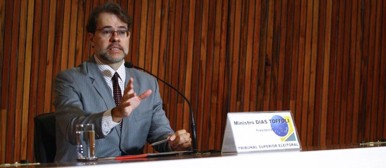 Toffoli concendeu entrevista coletiva para falar sobre eleições Foto: André Coelho / Agência O Globo