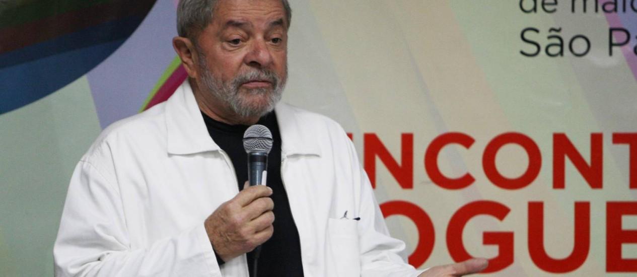 Lula participa de encontro com blogueiros Foto: Michel Filho/ Agência O Globo