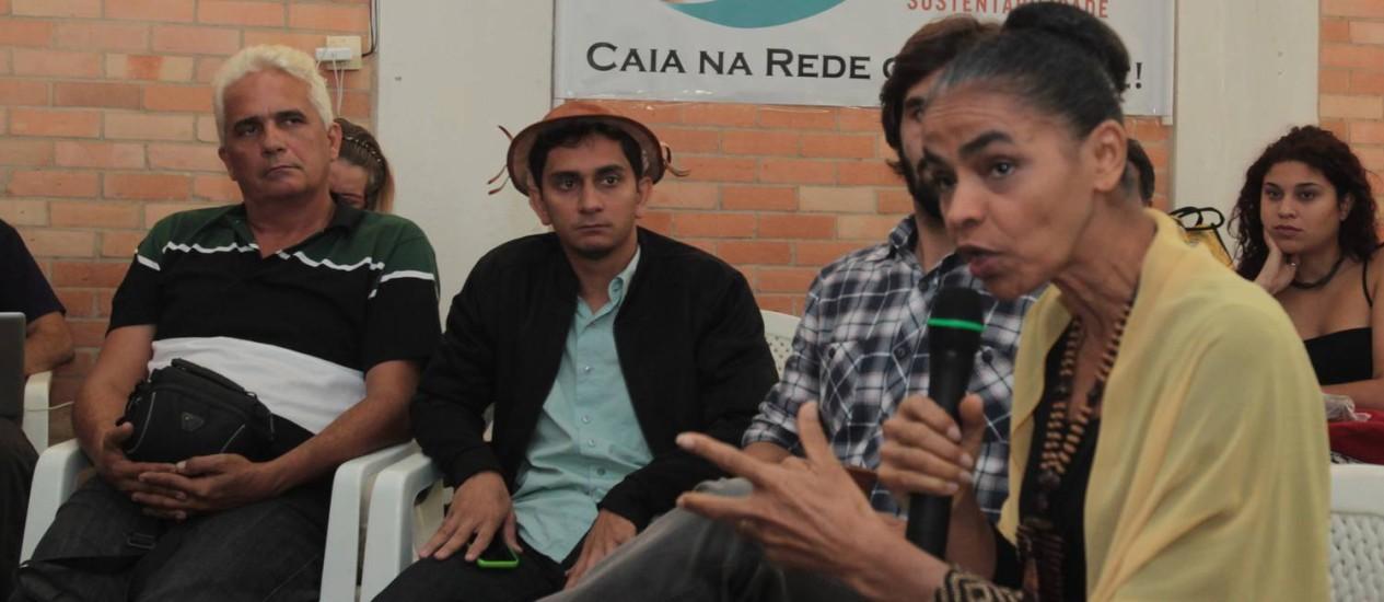 Marina Silva participa de encontro da Juventude da Rede, em Brasília Foto: Givaldo Barbosa / O Globo