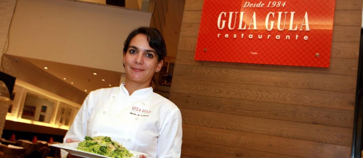 Nanda de Lamare segue tradição de três gerações na cozinha do Gula Gula Foto: Pedro Teixeira/ O Globo
