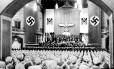 Comício nazista: compromisso com a maternidade era fundamental para o regime