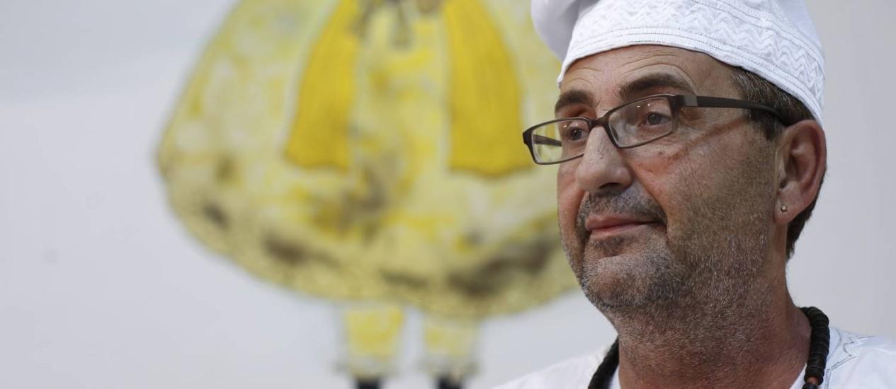 Renato Dobaluayê observa intolerância cada vez maior e diz que juiz não conhece religiosidade Foto: Daniela Dacorso