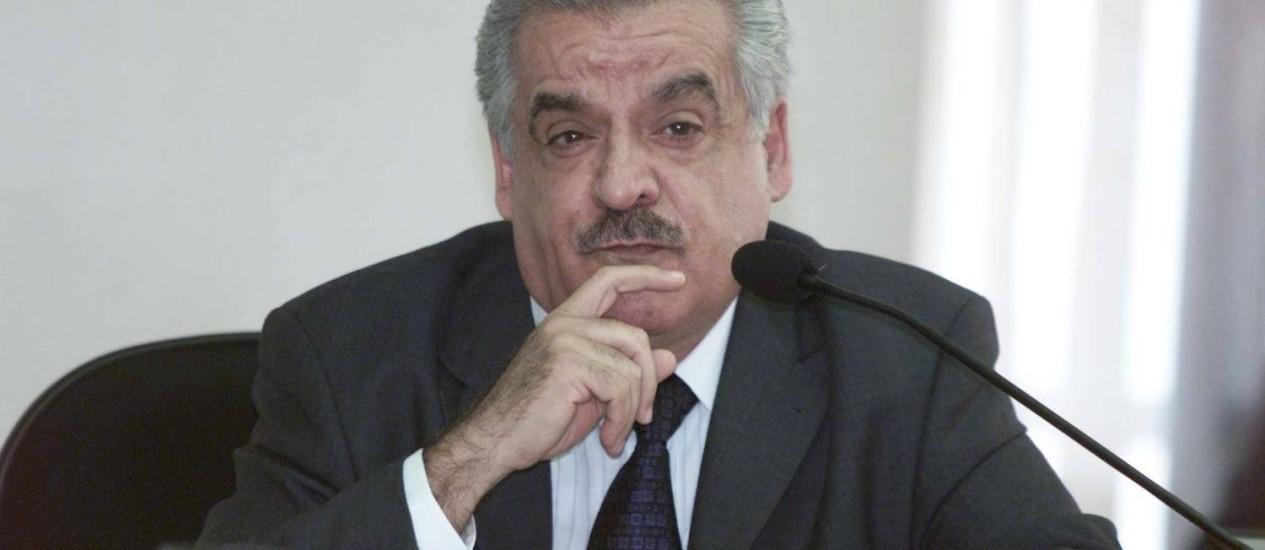 Eduardo José Farah em foto de 2001. Ex-dirigente morreu aos 80 anos Foto: Roberto Stuckert Filho