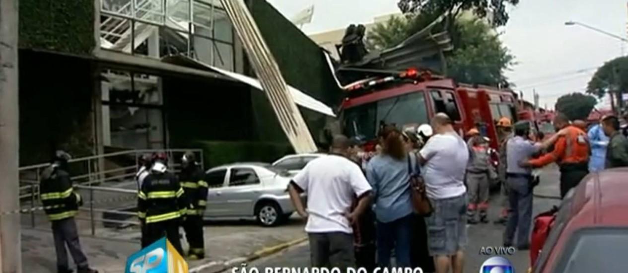 Explosão tem, pelo menos, duas vítimas fatais Foto: Reprodução TV Globo