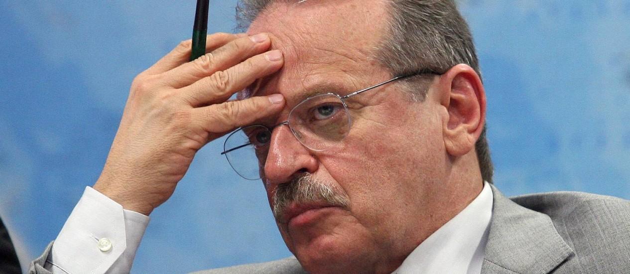 Acidente aconteceu no momento em que governador fazia vistoria no local Foto: Ailton de Freitas / Agência O Globo