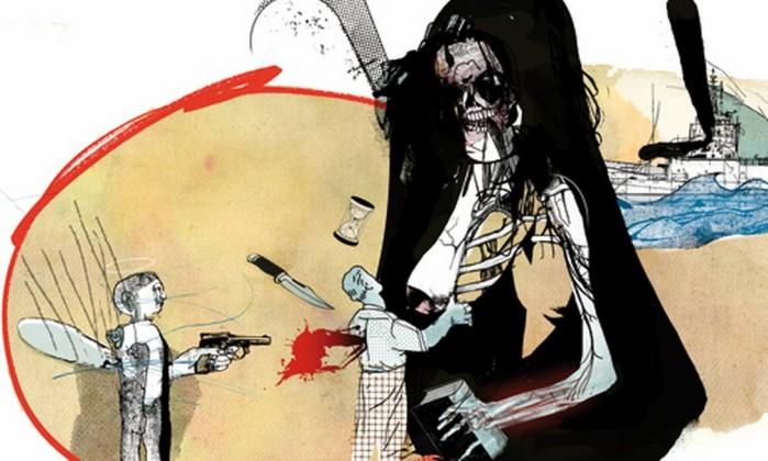 Ilustração de Cavalcante para conto de Juan Pablo Villalobos Foto: .