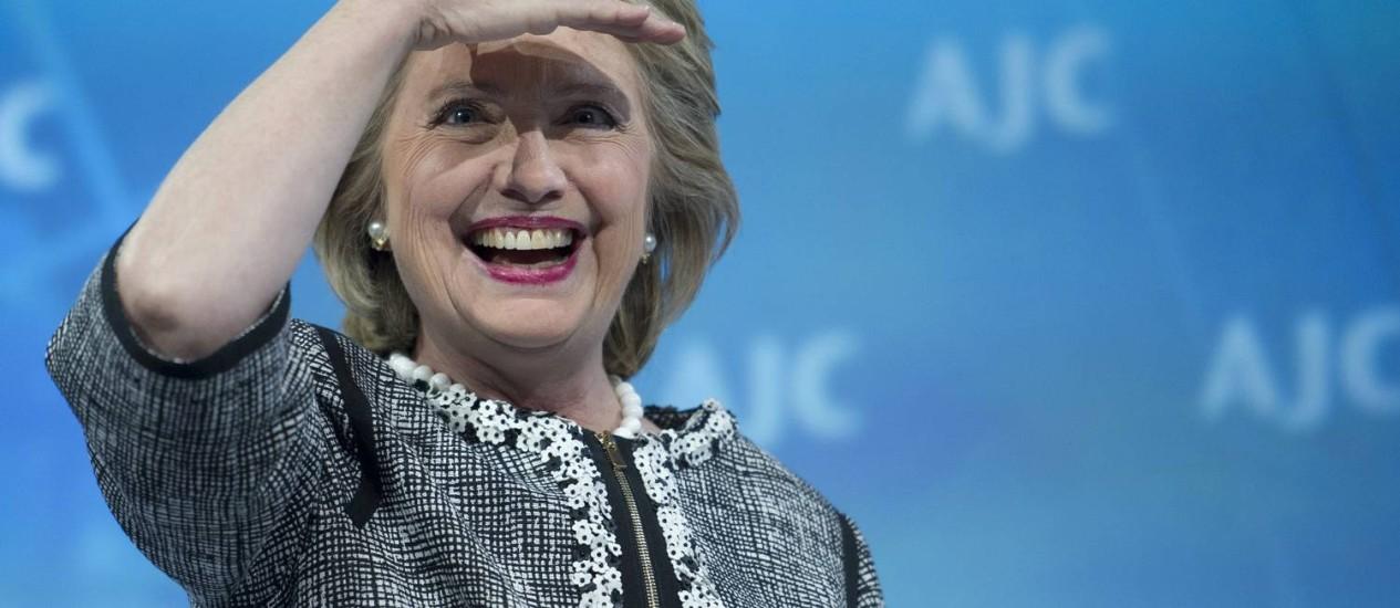 Hillary Clinton . Ex-primeira-dama deve ser candidata à sucessão de Obama Foto: Cliff Owen / AP/14-5-2014