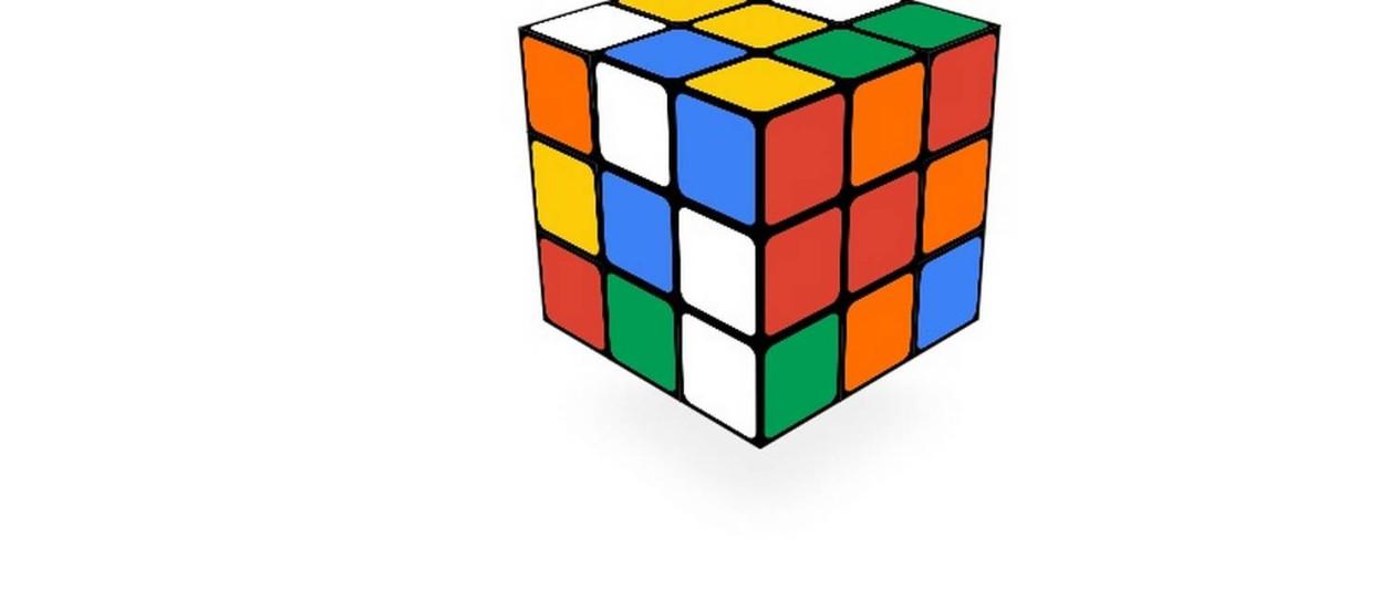O Cubo Mágico reproduzido em um Doodle do Google Foto: REPRODUÇÃO