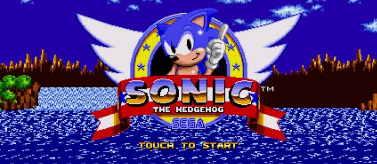"""O mascote da Sega, Sonic, é um dos personagens cuja criação é descrita no livro """"Console wars"""" Foto: REPRODUÇÃO"""