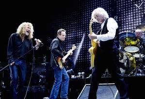 Led Zeppelin em dezembro de 2007, com Jason Bonham, filho do baterista John Bonham Foto: Divulgação