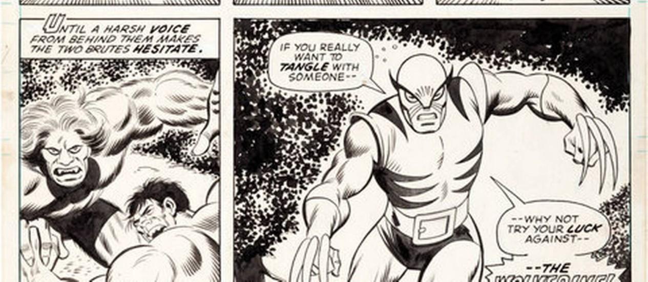 Revista em quadrinhos com a primeira aparição do Wolverine Foto: Divulgação