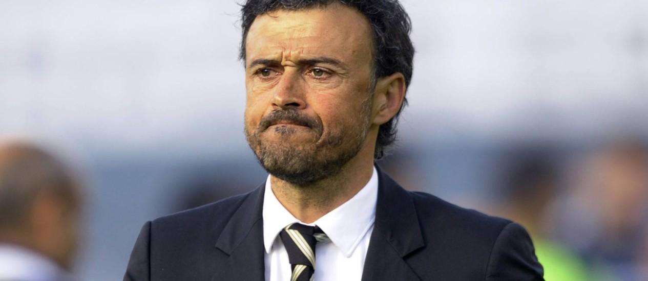 Luis Enrique, de 44 anos, novo treinador do Barcelona Foto: MIGUEL RIOPA / AFP