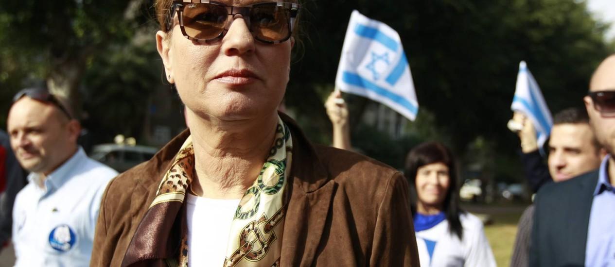 Tzipi Livni. Chefe das negociações de paz justificou encontro com Mahmoud Abbas em Londres, e recebeu críticas do primeiro-ministro israelense, Benjamin Netanyahu Foto: AMIR COHEN / REUTERS