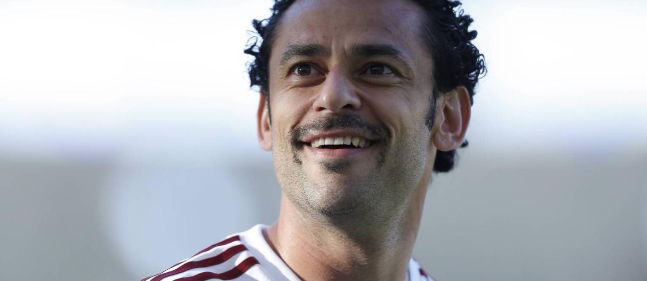 Fred é um dos atacantes de referência, autêntico camisa 9, que o Barcelona estuda contratar para a temporada 2014-2015 Foto: Alexandre Cassiano / Agência O Globo